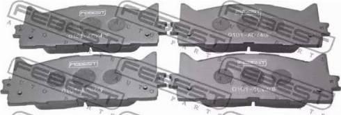 Febest 0101-ACV40F - Kit de plaquettes de frein, frein à disque www.widencarpieces.com