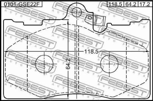 Febest 0101-GSE22F - Kit de plaquettes de frein, frein à disque www.widencarpieces.com