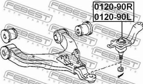Febest 0120-90L - Rotule de suspension www.widencarpieces.com