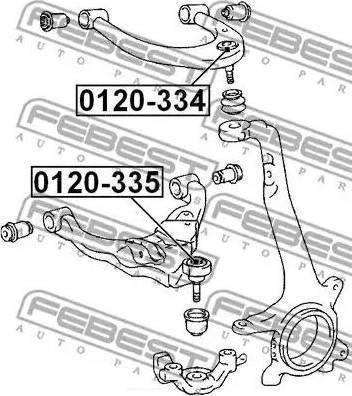 Febest 0120-335 - Rotule de suspension www.widencarpieces.com