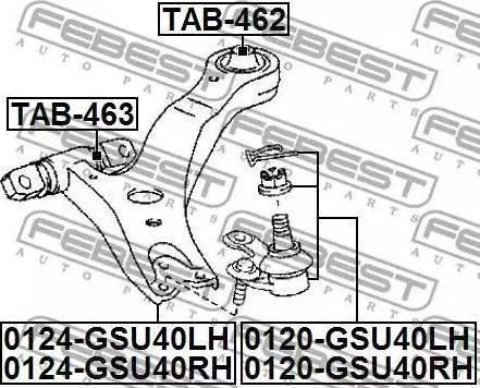 Febest 0120-GSU40LH - Rotule de suspension www.widencarpieces.com