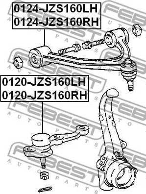 Febest 0120-JZS160LH - Rotule de suspension www.widencarpieces.com