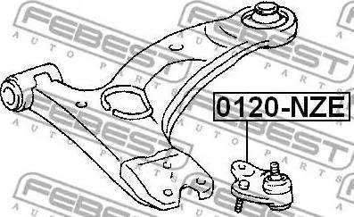 Febest 0120-NZE - Rotule de suspension www.widencarpieces.com