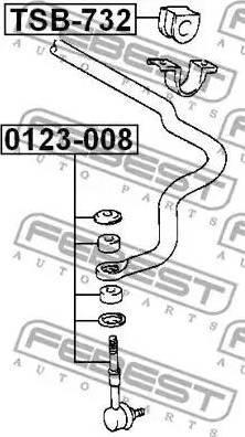 Febest 0123-008 - Entretoise/tige, stabilisateur www.widencarpieces.com