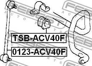 Febest 0123-ACV40F - Entretoise/tige, stabilisateur www.widencarpieces.com