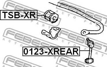 Febest 0123-XREAR - Entretoise/tige, stabilisateur www.widencarpieces.com