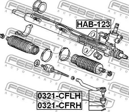 Febest 0321-CFLH - Tige de biellette, rotule www.widencarpieces.com