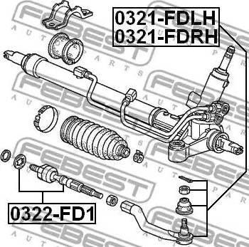 Febest 0322-FD1 - Rotule de direction intérieure, barre de connexion www.widencarpieces.com