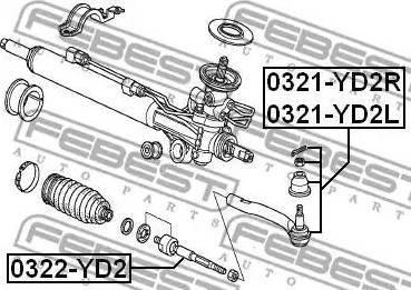 Febi Bilstein SDK-HD-045F - Rotule de direction intérieure, barre de connexion www.widencarpieces.com