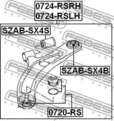 Febi Bilstein ZSD-SU-003F - Rotule de suspension www.widencarpieces.com