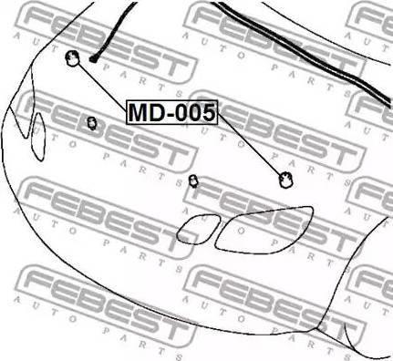 Febest MD005 - Butoir, capot-moteur www.widencarpieces.com