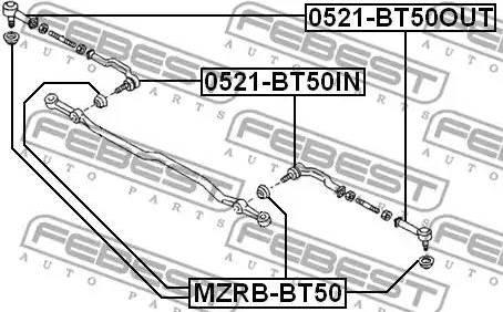 Febest MZRB-BT50 - Kit de réparation, rotule de barre de connexion www.widencarpieces.com