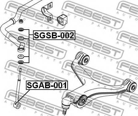 Febest SGSB-002 - Suspension, jambe d'essieu www.widencarpieces.com
