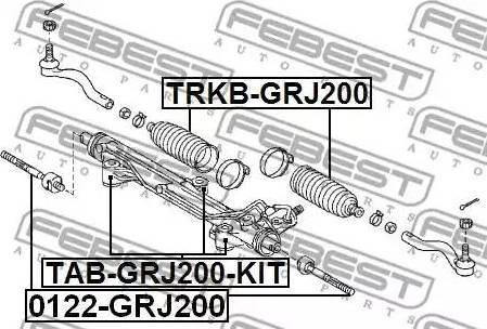 Febest TAB-GRJ200-KIT - Suspension, crémaillière de direction www.widencarpieces.com