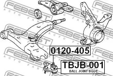 Febest TBJB-001 - Kit de réparation, rotule de suspension www.widencarpieces.com
