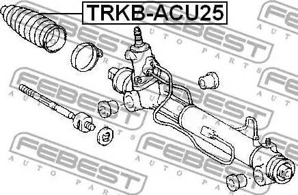Febest TRKB-ACU25 - Joint-soufflet, direction www.widencarpieces.com