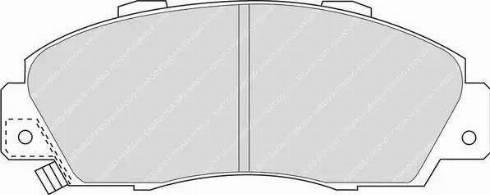 Ferodo FDB905 - Kit de plaquettes de frein, frein à disque www.widencarpieces.com