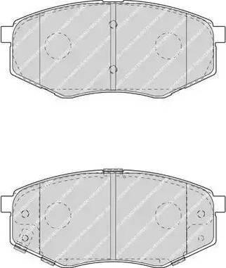 Ferodo FDB4447 - Kit de plaquettes de frein, frein à disque www.widencarpieces.com