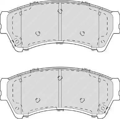 Ferodo FDB4062 - Kit de plaquettes de frein, frein à disque www.widencarpieces.com