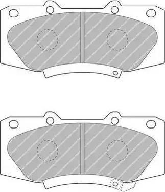 Ferodo FDB4715 - Kit de plaquettes de frein, frein à disque www.widencarpieces.com