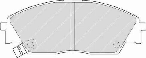 Ferodo FDB598 - Kit de plaquettes de frein, frein à disque www.widencarpieces.com