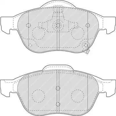 Ferodo FDB1447 - Kit de plaquettes de frein, frein à disque www.widencarpieces.com