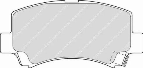 Ferodo FDB1421 - Kit de plaquettes de frein, frein à disque www.widencarpieces.com
