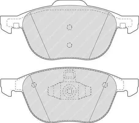 Ferodo FDB1594 - Kit de plaquettes de frein, frein à disque www.widencarpieces.com