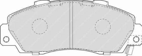 Ferodo FDB1505 - Kit de plaquettes de frein, frein à disque www.widencarpieces.com