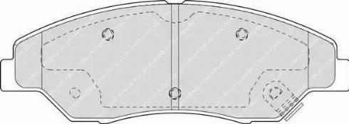 Ferodo FDB1536 - Kit de plaquettes de frein, frein à disque www.widencarpieces.com