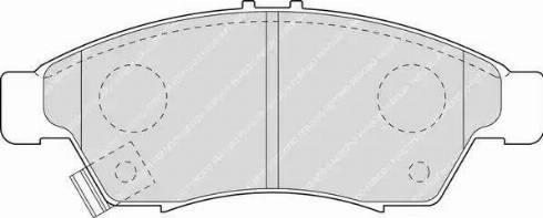 Ferodo FDB1533 - Kit de plaquettes de frein, frein à disque www.widencarpieces.com