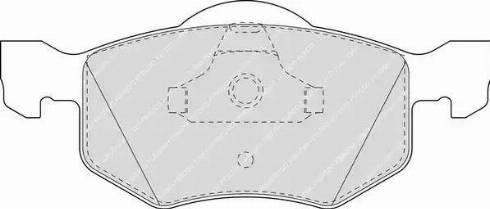 Ferodo FDB1571 - Kit de plaquettes de frein, frein à disque www.widencarpieces.com