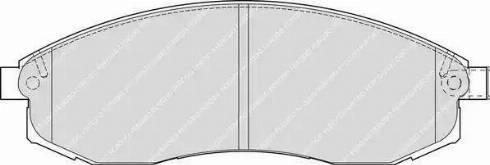 Ferodo FDB1646 - Kit de plaquettes de frein, frein à disque www.widencarpieces.com