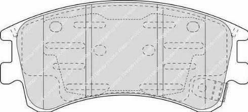 Ferodo FDB1619 - Kit de plaquettes de frein, frein à disque www.widencarpieces.com
