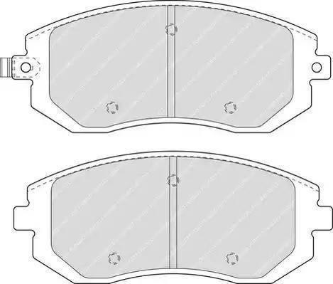 Ferodo FDB1639 - Kit de plaquettes de frein, frein à disque www.widencarpieces.com