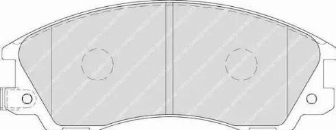 Ferodo FDB1670 - Kit de plaquettes de frein, frein à disque www.widencarpieces.com
