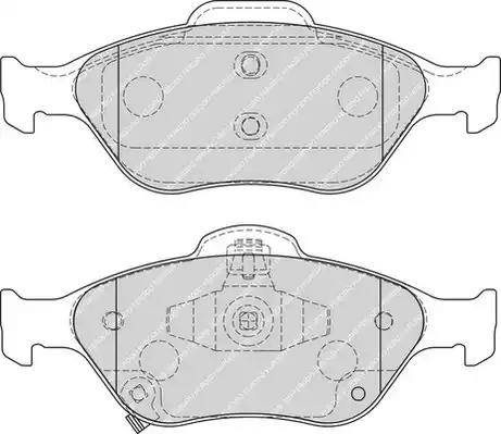 Ferodo FDB1890 - Kit de plaquettes de frein, frein à disque www.widencarpieces.com