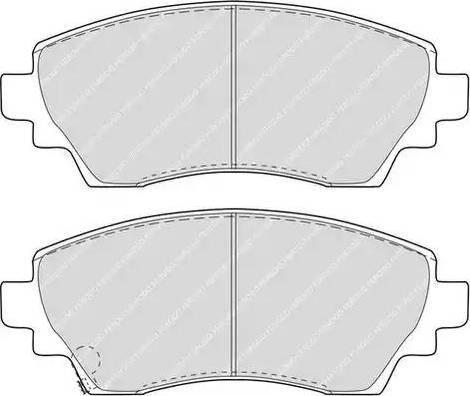 Ferodo FDB1391 - Kit de plaquettes de frein, frein à disque www.widencarpieces.com