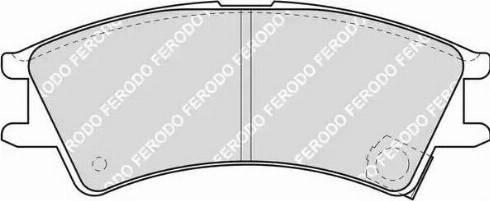 Ferodo FDB1326 - Kit de plaquettes de frein, frein à disque www.widencarpieces.com