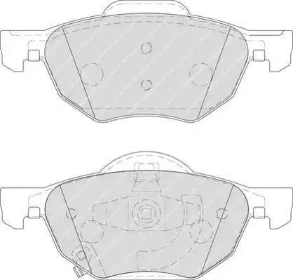 Ferodo FDB1704 - Kit de plaquettes de frein, frein à disque www.widencarpieces.com