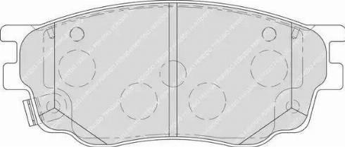 Ferodo FDB1707 - Kit de plaquettes de frein, frein à disque www.widencarpieces.com