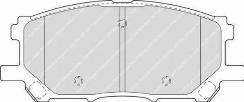 Ferodo FDB1715 - Kit de plaquettes de frein, frein à disque www.widencarpieces.com