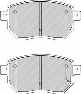 Ferodo FDB1786 - Kit de plaquettes de frein, frein à disque www.widencarpieces.com