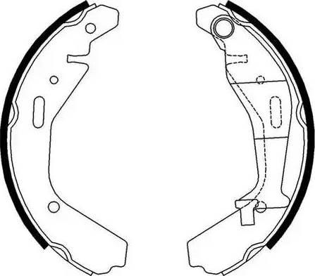 Ferodo FSB4007 - Jeu de freins, freins à tambour www.widencarpieces.com