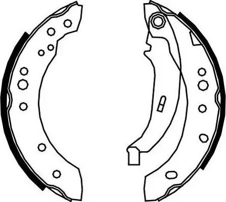 Ferodo FSB4109 - Jeu de freins, freins à tambour www.widencarpieces.com