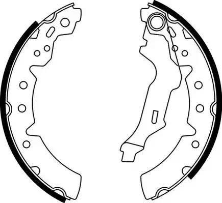 Ferodo FSB591 - Jeu de freins, freins à tambour www.widencarpieces.com