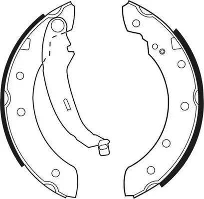 Ferodo FSB519 - Jeu de freins, freins à tambour www.widencarpieces.com
