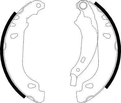 Ferodo FSB584 - Jeu de freins, freins à tambour www.widencarpieces.com