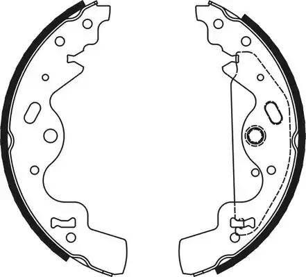 Ferodo FSB651 - Jeu de mâchoires de frein, frein de stationnement www.widencarpieces.com