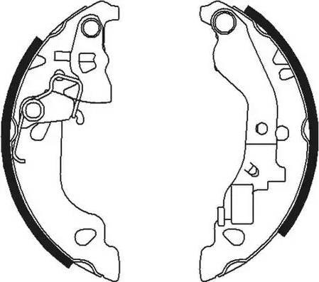 Ferodo FSB602 - Jeu de freins, freins à tambour www.widencarpieces.com